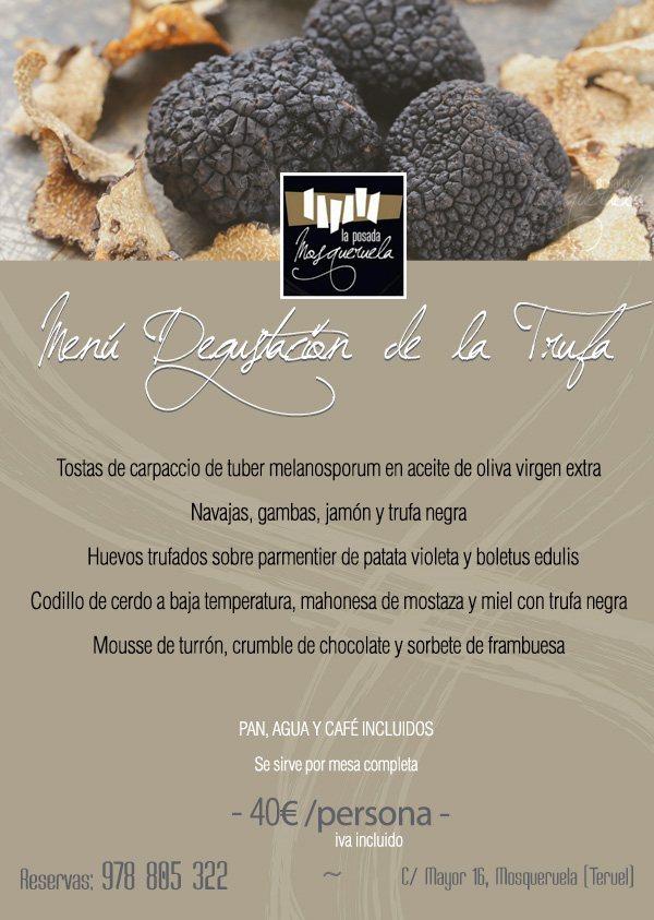 Menú degustación de la Trufa en Teruel
