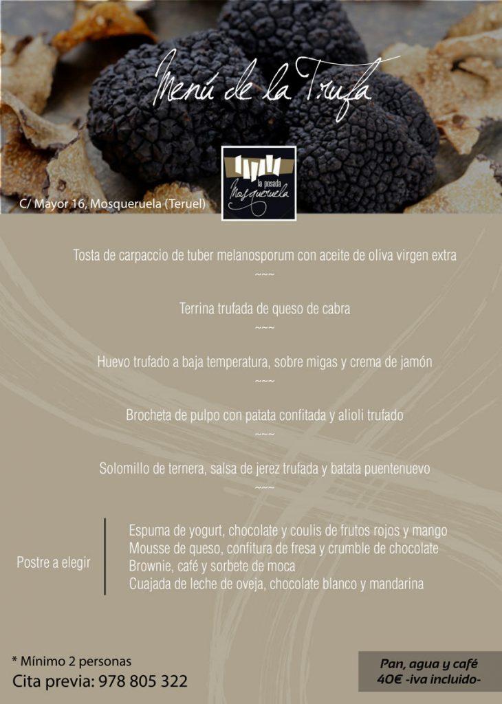 menu trufa melanosporum teruel