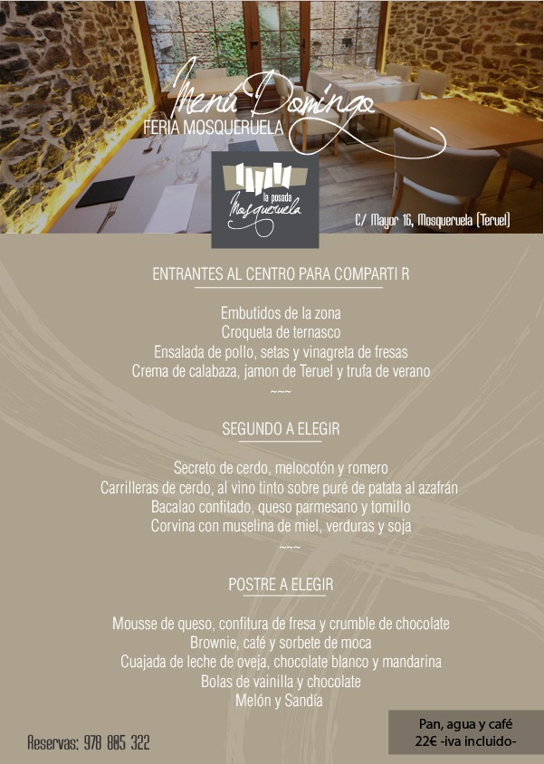 menu feria 2019